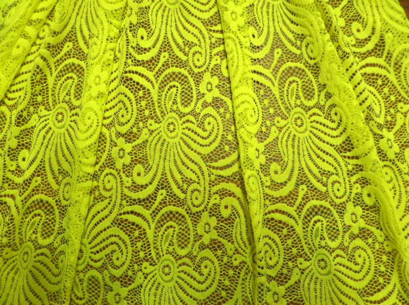 6.Neon Yellow Wild Flower Lace