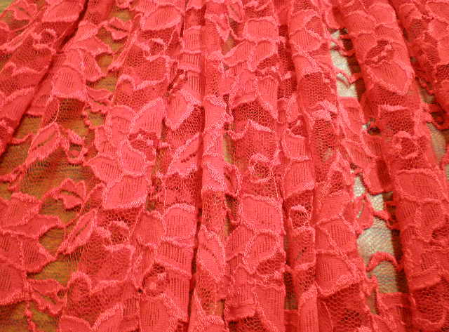 6.Red Romance Flower Lace