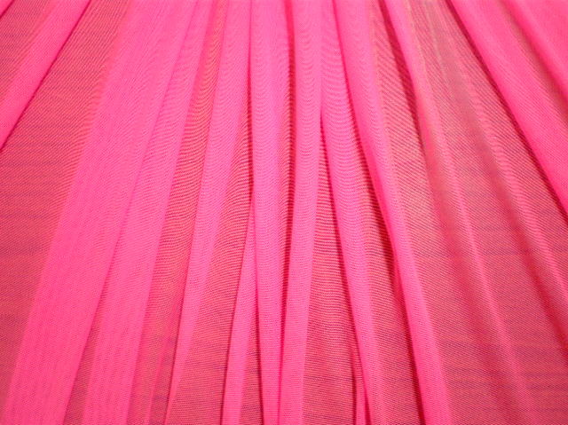 6.N.Pink Plain Soft Stretch mesh