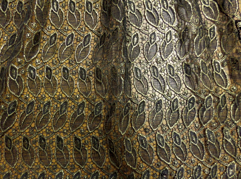 7. Gold Novelty Fabric #4