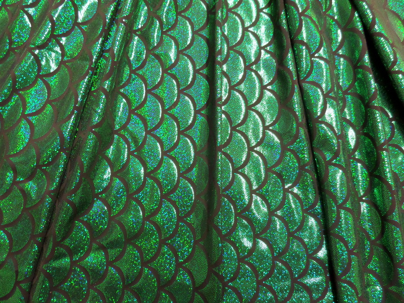 7.Green Fish Scale Hologram
