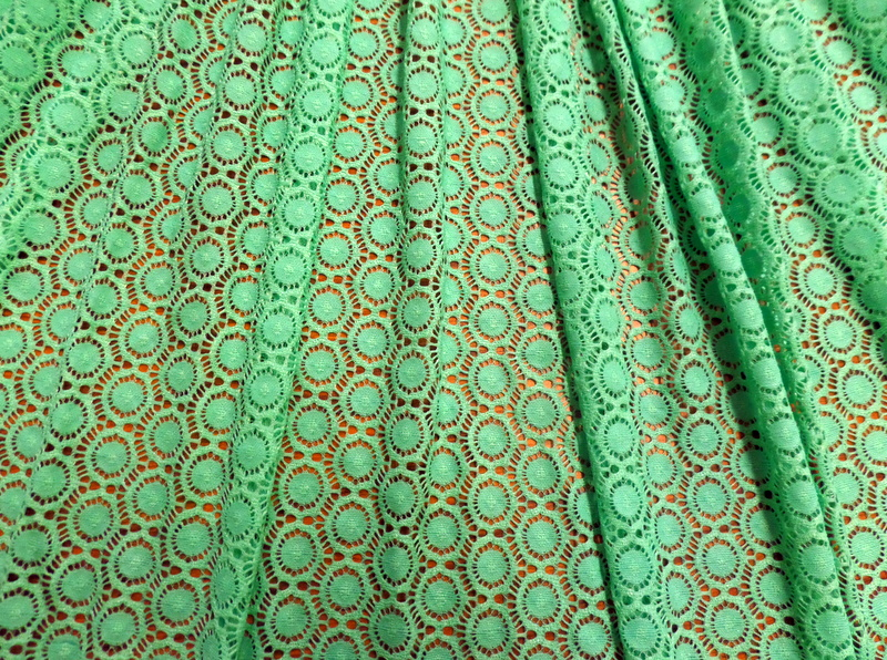 7. Mint Victorian Stretch Lace