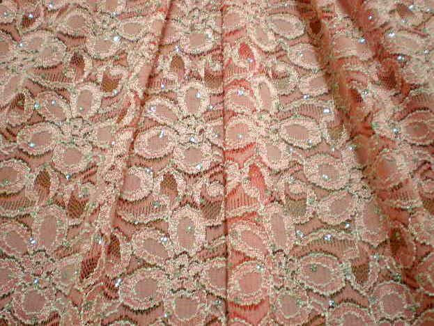 7.Pink Glitter Lace