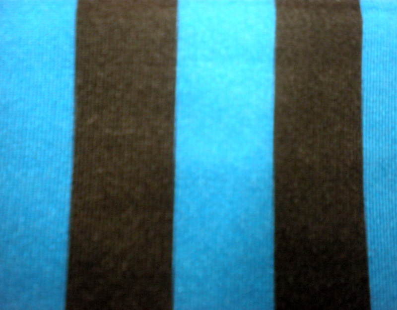 "7.Turquoise-Black 1/2"" 4Way Stripes"