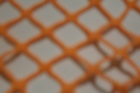7.Orange Big Hole Crochet Mesh