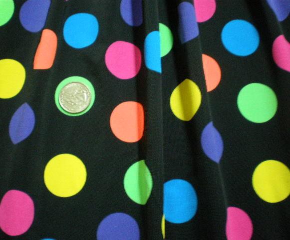 8.Black-Multi Polka Dot Special Printed Spandex