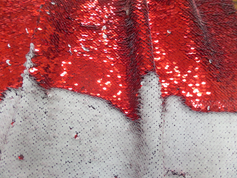8.Red-White Flip Sequins#2