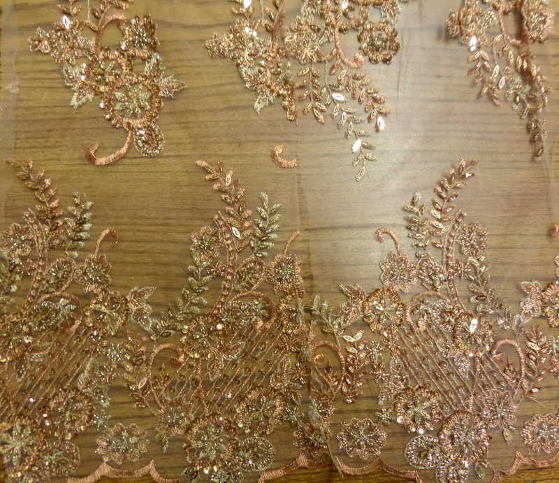 9.Copper Beaded lace SP