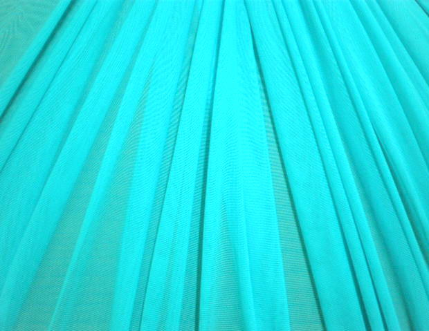9.Lt.Turquoise Plain Soft Stretch mesh