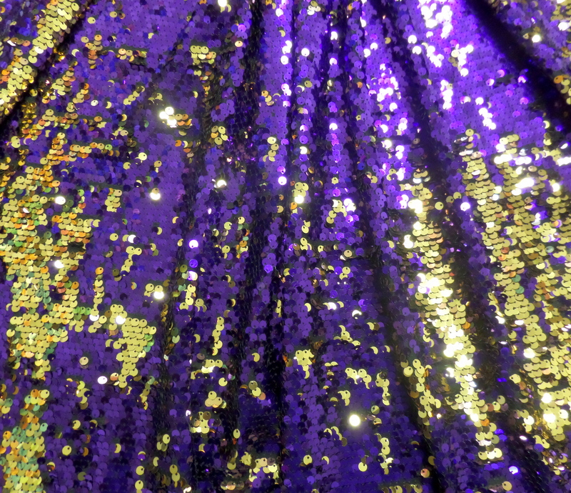 9.Purple-Gold Two Tone Sequins