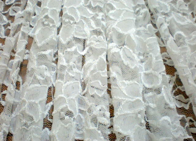 9.White Romance Flower Lace