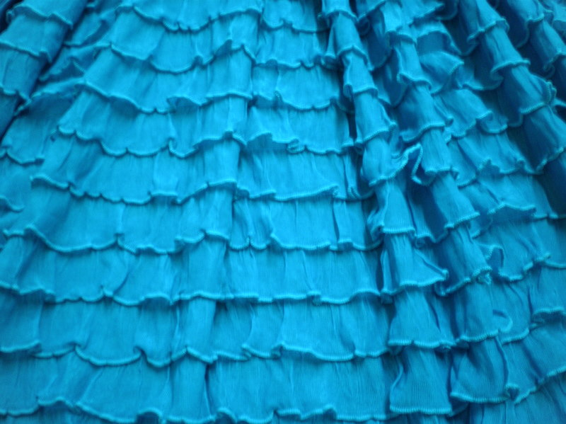 13.D. Turquoise Variety Ruffles