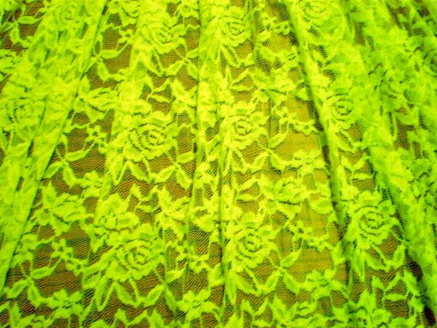 1.Neon Yellow Romance Flower Lace #3