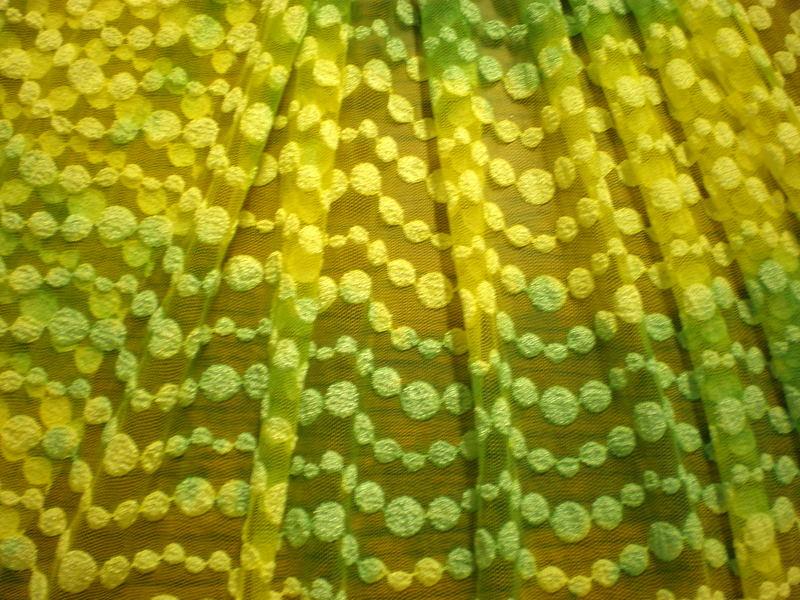 1.Yellow-Green Tiedye Lace#2