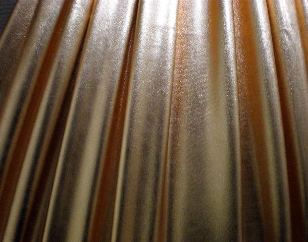 14.Copper Metal Lame 2Way Stretch
