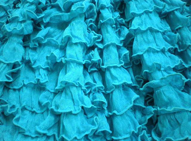 9.Turquoise Cha Cha Ruffles