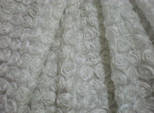 1.White Small Ribbon Flower