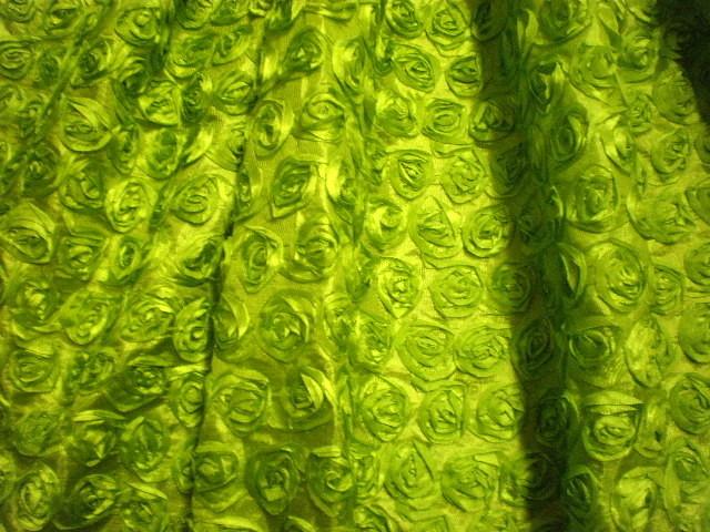 10.Green Small Ribbon Flower