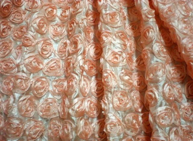11. Peach Small Ribbon Flower