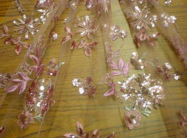 5.Mauve Flower Sequins #1