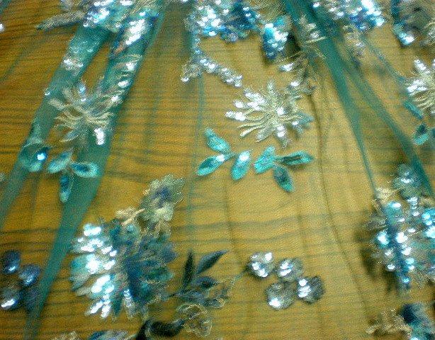 3. Turquise Flower Sequins#1