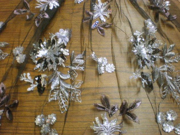 2.Black-Silver Flower Sequins #1