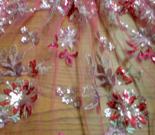 7.Fuchsia Flower Sequins #1