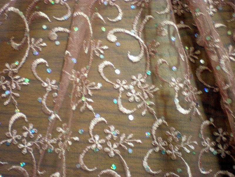 6.Lt.Mauve Sequins lace