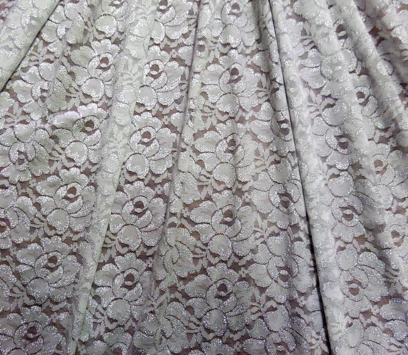 4.White-Silver Glitter Lace #3