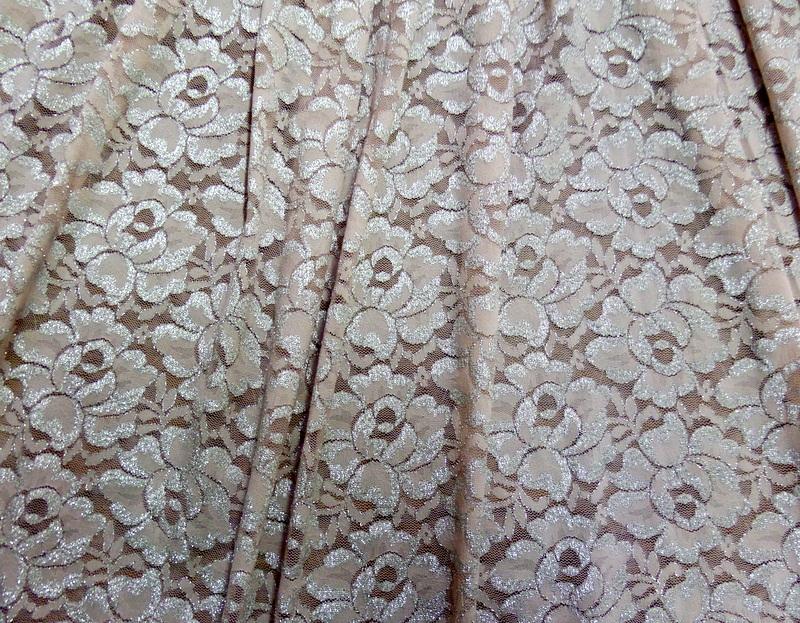 6.Peach-Silver Glitter Lace #3