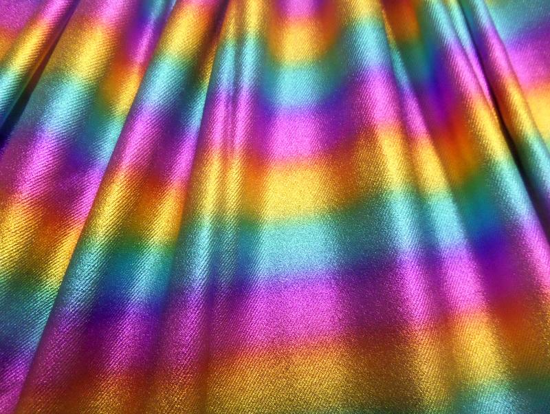 1.Rainbow Metallic Denim