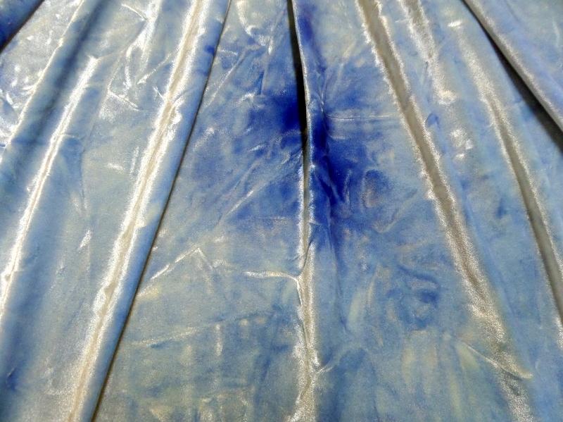 4.Blue Tye-Dye Velvet#2