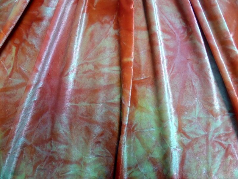 5.Red Tye-Dye Velvet#2