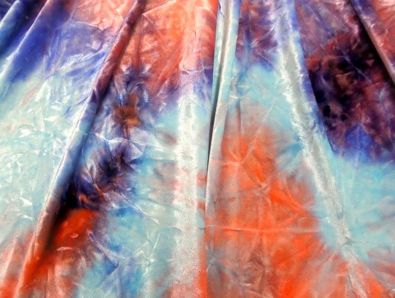9.Royal-Coral Tye-Dye Velvet #2