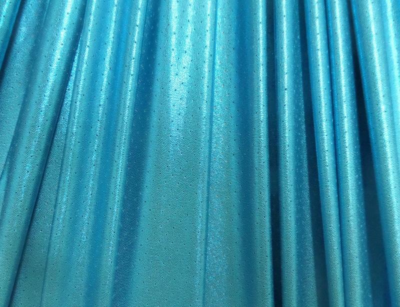 4.Turquoise Metallic Laser Hole