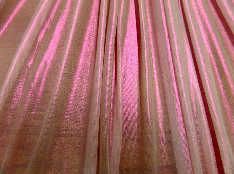 8.Fuchsia-Lt. Pink Solid Metal Mesh#2
