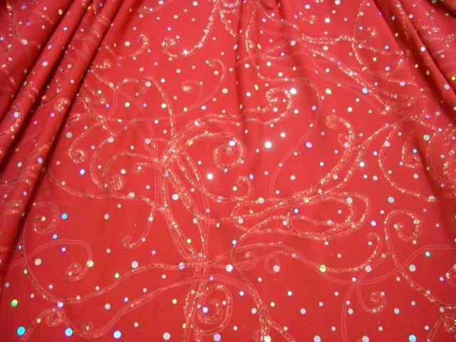 2.Red Glitter/Sequins Design Novelty