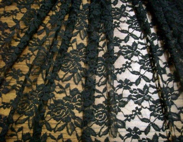 4.Black Romace Flower Lace #3