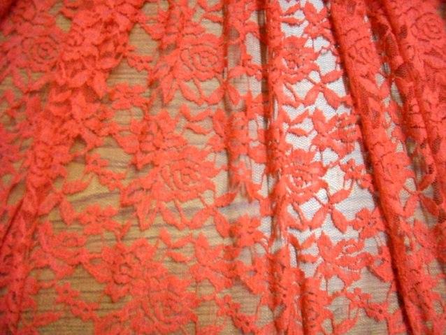 8.Burnt Orange Romance Flower Lace#3