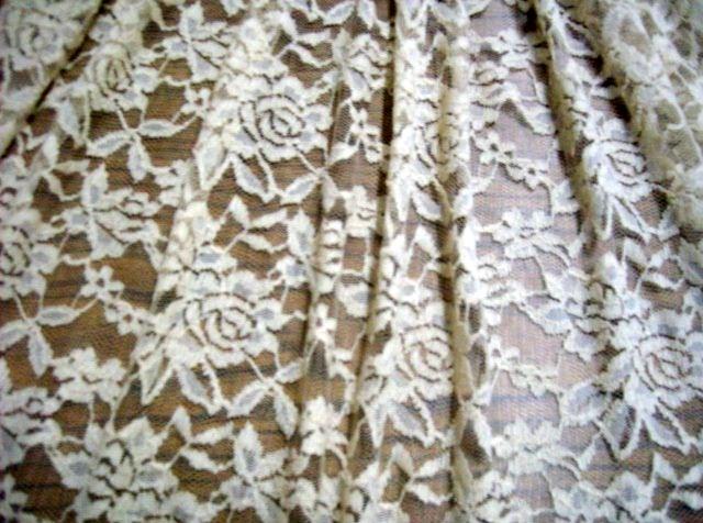 7.Cream Romance Flower Lace #3